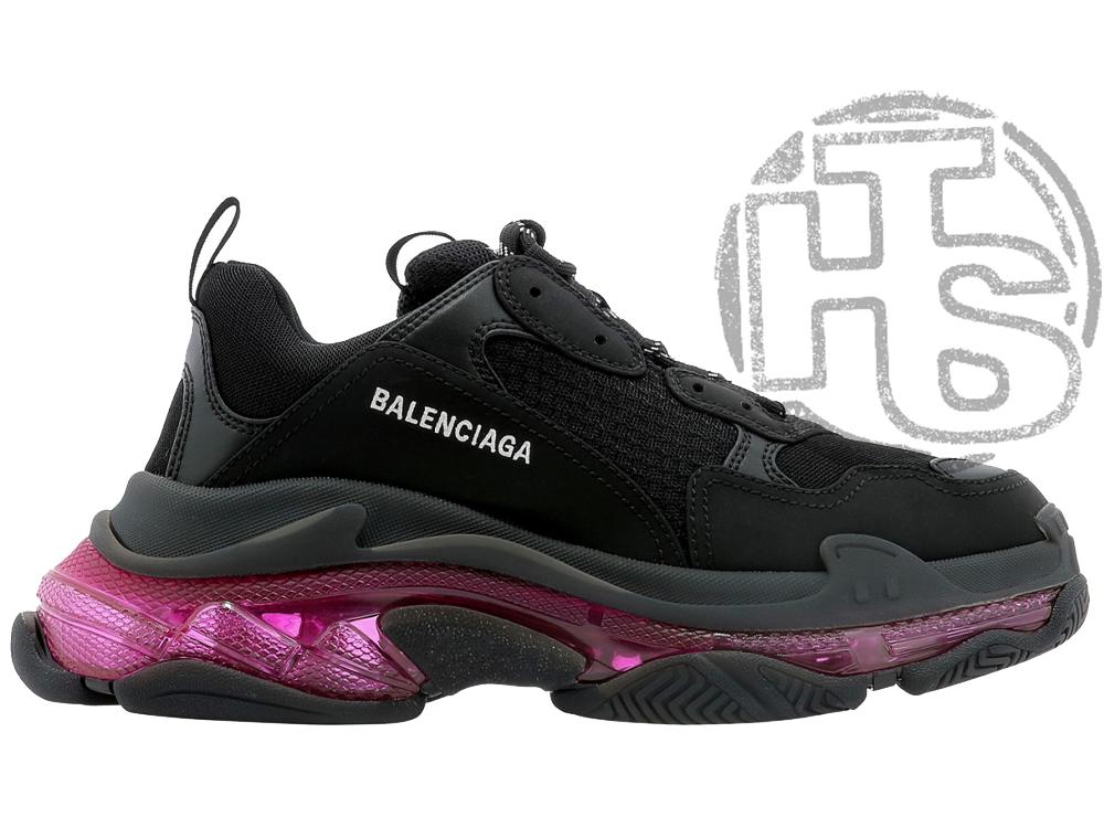 Женские кроссовки Balenciaga Triple S Clear Sole Black Pink Neon 541624W2FR11053