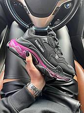 Женские кроссовки Balenciaga Triple S Clear Sole Black Pink Neon 541624W2FR11053, фото 3