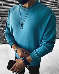 Свитшот - Стильный мужской Топовый свитшот на весну / чоловічий стильний світшот на весну голубий