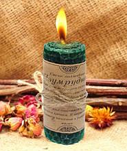 Волшебная свеча Изумрудная ручная работа