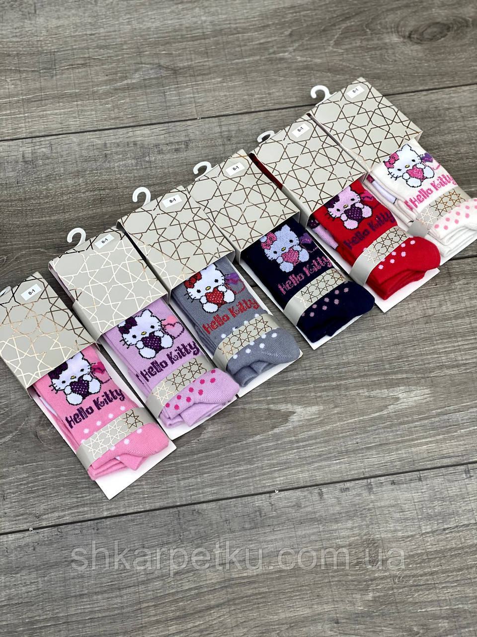 Колготы для младенцев хлопок KBS Hello Kitty Хеллоу Китти с кошками для девочек 6 шт в уп микс из 3х кол