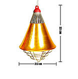 Рефлектор для инфракрасной лампы (абажур) Tehno MS  S1021 цвет  бронзовый, фото 6