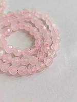 Заготівля з гранчастої рожевого кварцу 10мм, фото 1