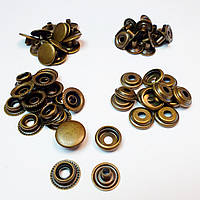 Кнопка для одягу Каппа 15мм. Кнопка київська №61,Антик (кільцева)