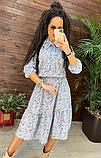 Платье миди элегантное в цветочный принт NB2710, фото 4