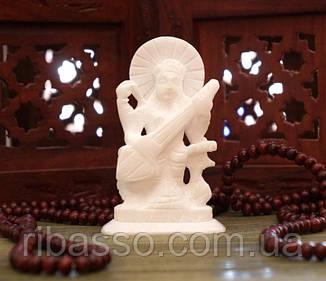 9170062 Статуетка білий мармур Сарасваті