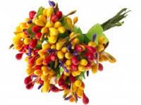 Тычинки для цветочного венка разноцветные (жёлтые), букетик из 10 соцветий, фото 1