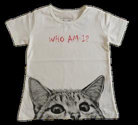 Стильная футболка для девочки кремовая Breeze (122-152)