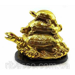 Черепахи кам'яна крихта золото (9х10х6 см) ( 32866)