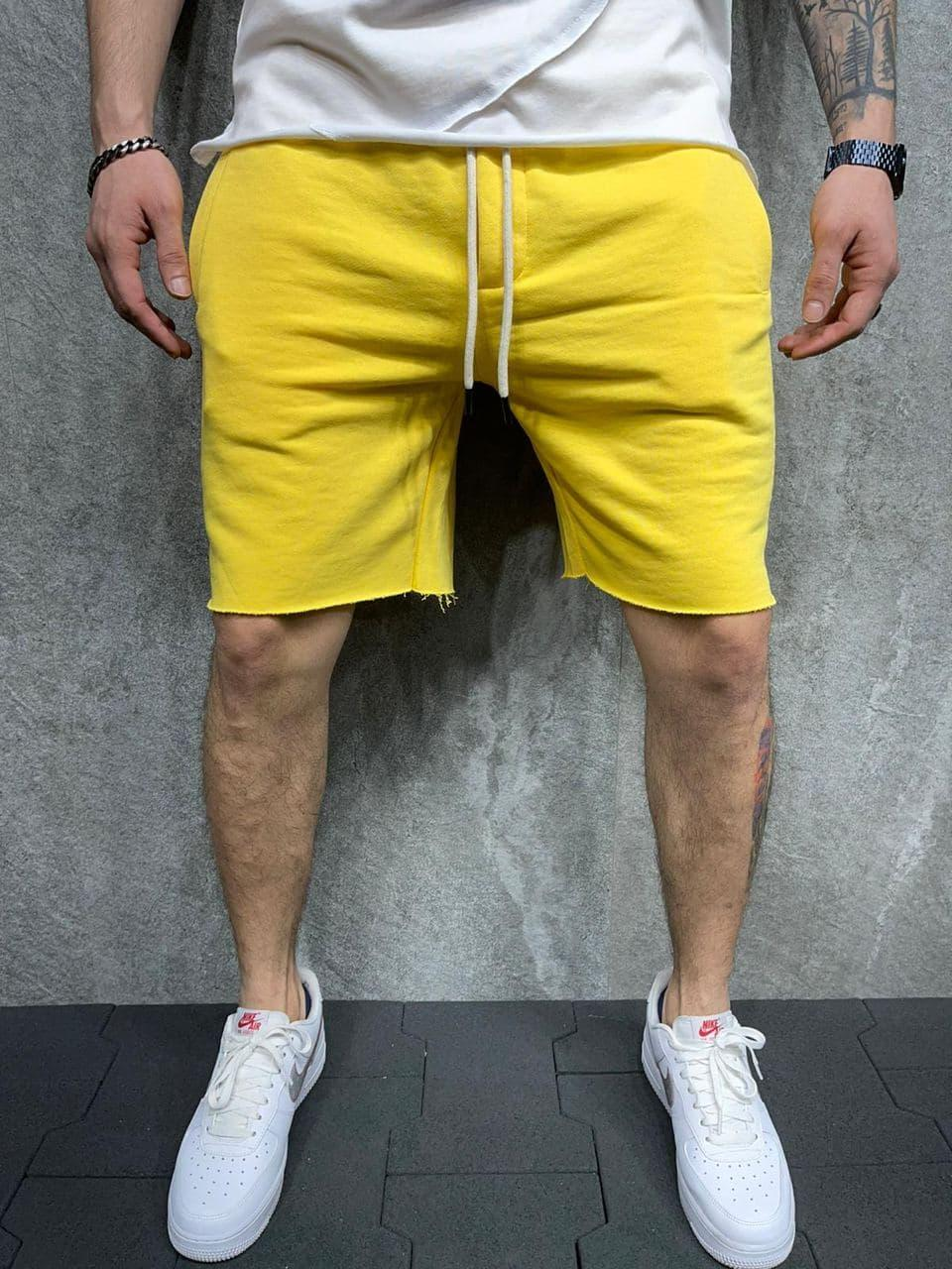 😜 Шорти - Чоловічі шорти / чоловічі шорти на літо спортивні жовті