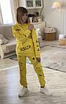 """Спортивный костюм подростковый для девочки """"НЕБЕСИ"""" 134-158 см Желтый"""