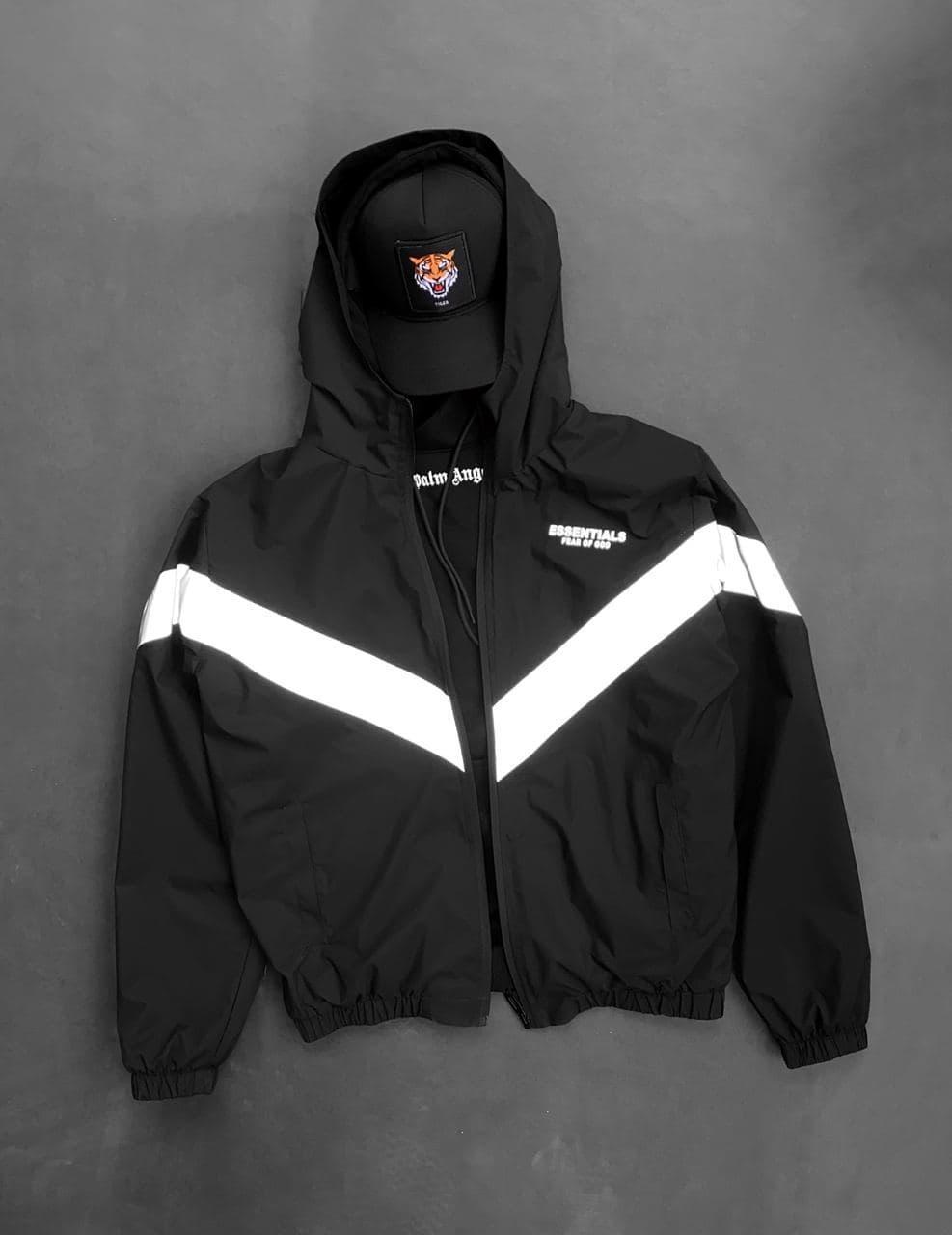 Вітрівка Чоловіча куртка вітровка / чоловіча куртка чорна вітровка з капюшоном