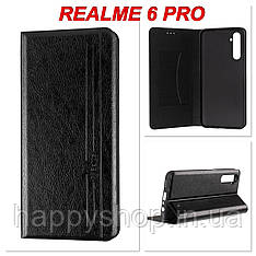 Чохол-книжка Gelius Leather New для Realme 6 Pro (Чорний)