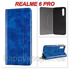 Чохол-книжка Gelius Leather New для Realme 6 Pro (Синій)
