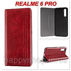 Чохол-книжка Gelius Leather New для Realme 6 Pro (Червоний)