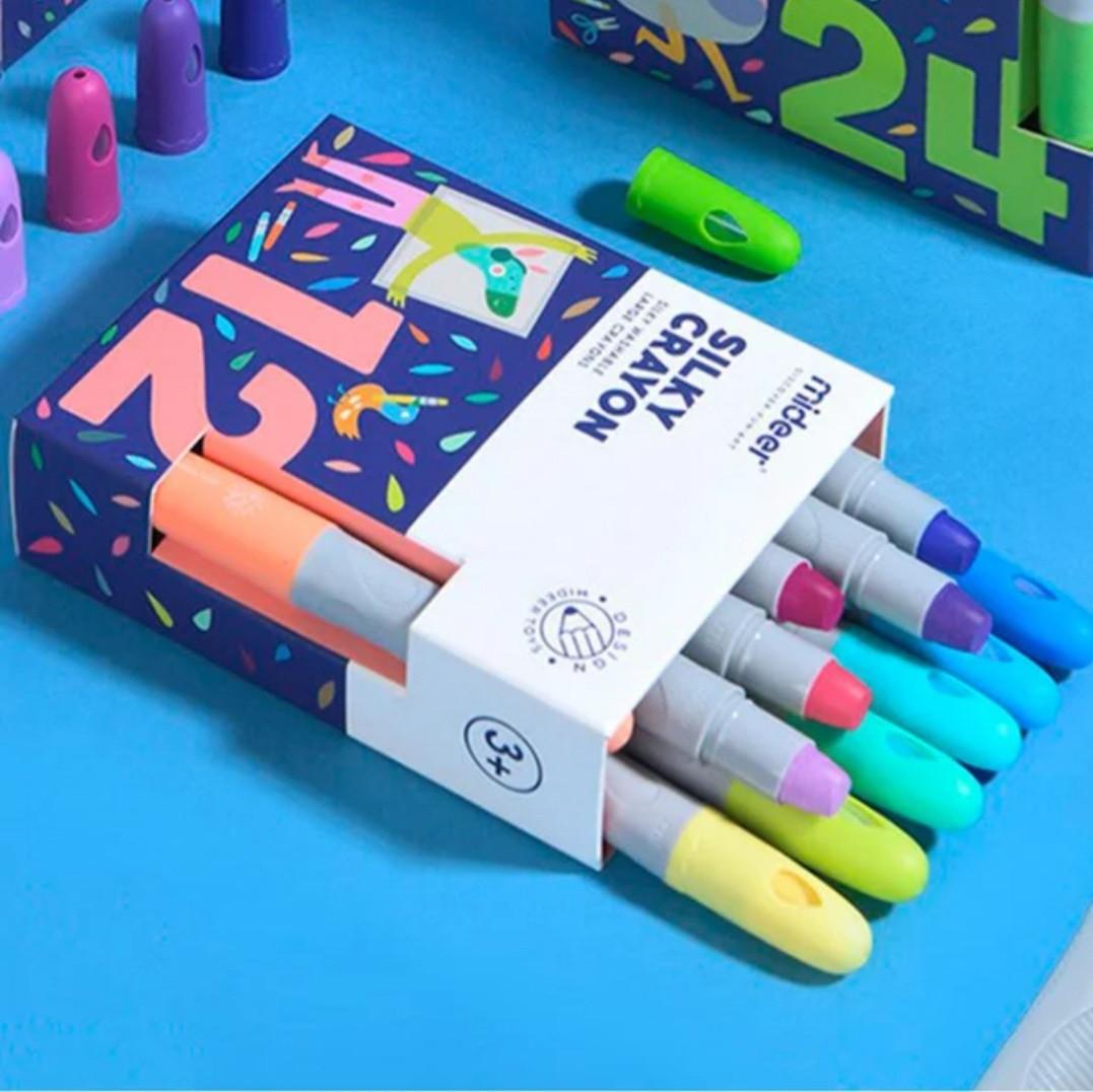 Восковые карандаши Silky crayon, Mideer, 12 шт