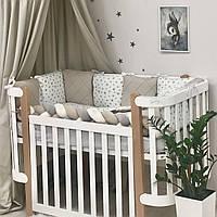 Комплект постельного белья из 6 предметов Happy night Звезда беж