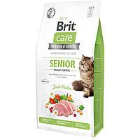 Корм Brit Care Cat GF Senior Weight Control (курица), 7 кг