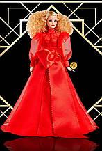 Коллекционная Barbie  75-тый Юбилей Mattel в красном платье