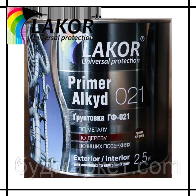 Грунтовка ГФ-021 LAKOR красно-коричневая 2.5 кг