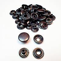 Кнопка для одежды Каппа 15мм. Кнопка киевская №61,Оксид (кольцевая)