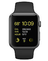 Apple 42mm Space Gray Aluminum Case with Black Sport Band (MJ3T2), фото 1