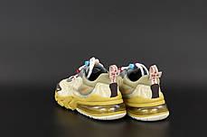 Мужские кроссовки Nike Air Max 270 React. Беж. ТОП Реплика ААА класса., фото 3