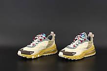 Мужские кроссовки Nike Air Max 270 React. Беж. ТОП Реплика ААА класса., фото 2