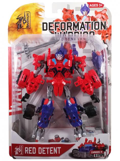 """Конструктор робот-трансформер """"Deformation Warrior: Red Detent"""" 28 см Червоний"""