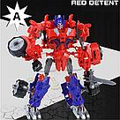 """Конструктор робот-трансформер """"Deformation Warrior: Red Detent"""" 28 см Червоний, фото 5"""