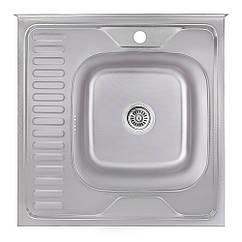 Кухонна мийка Lidz 6060-R Decor 0,8 мм (LIDZ6060RDEC08)