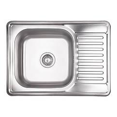Кухонна мийка Lidz 6950 Decor 0,8 мм (LIDZ6950DEC08)