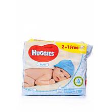 Серветки вологі Huggies Пур 2 + 1 (56х3)