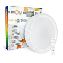 LED Светильник Biom Smart 80W+6WRGB 3000-6000-RGB 6400Lm SML-R19-80-RGB