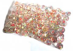Попрыгунчик 862132 прозрачный с цветными шариками (100шт) 3см