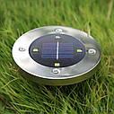 Газонная подсветка на солнечной батарее (В комплекте 2 шт) SOLAR DISK LIGHTS / ART-0243, фото 7