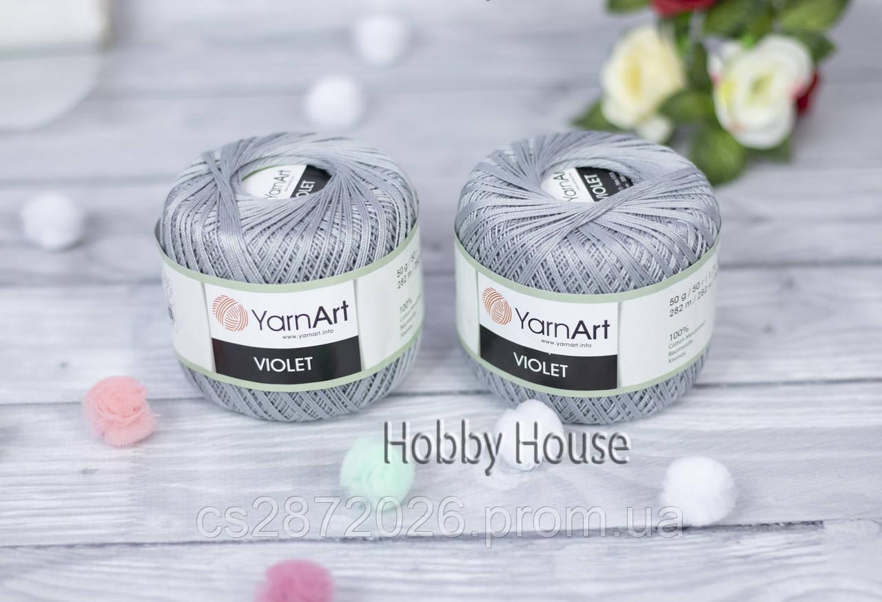 """Пряжа YarnArt """"Violet""""(ЯрнАрт Віолет)№5326,сірий"""