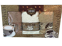 Набор кухонных махровых полотенец в подарочной упаковке