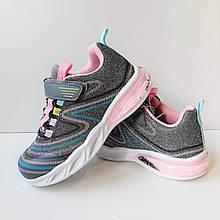 Кросівки з підсвічуванням для дівчинки Bi&Ki Сірий р. 29 (18,5 см), 31 (20 см)