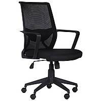 Кресло Tin сиденье Саванна nova Black 19/спинка Сетка SL-00 черная БЕСПЛАТНАЯ ДОСТАВКА !