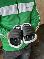 Мужские шлепанцы Adidas Adilette Boost Cloud White Core Black EG1910, фото 3