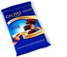 Шоколад CACHET молочный с миндалем 300г, фото 5
