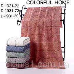 Банное махровое полотенце  1,4х0,7  в уп.6 шт. хлопок
