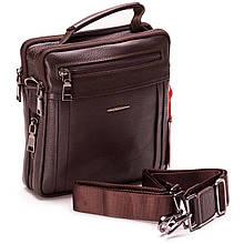 Чоловіча сумка шкіряна коричнева Eminsa 6136-37-3