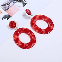 Красые шикарні акрилові сережки, фото 3