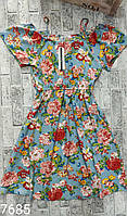 Сарафан жіночий костюм ТРОЯНДА для дівчат розмір 42-46,принт при замовленні уточнюйте, фото 1