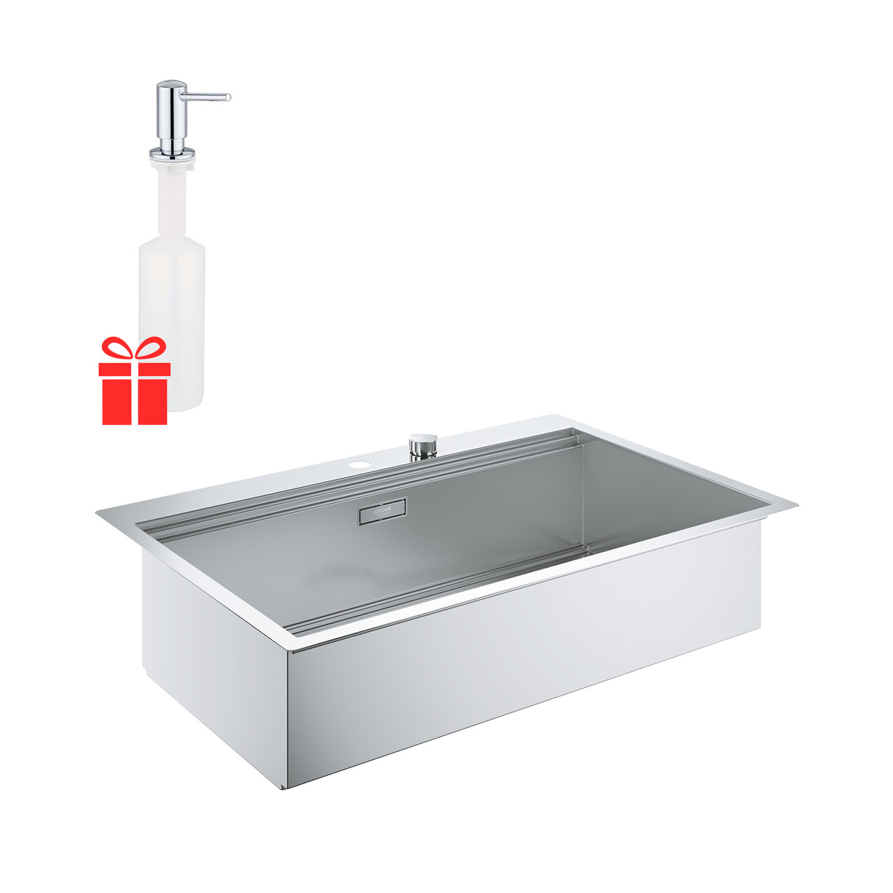 Набор Grohe мойка кухонная K200 31584SD0 + дозатор для моющего средства Contemporary 40536000