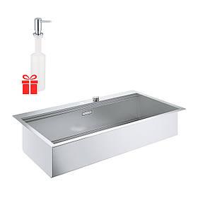 Набор Grohe мойка кухонная K800 31586SD0 + дозатор для моющего средства Contemporary 40536000
