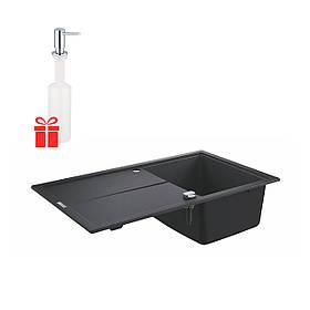 Набор Grohe мойка кухонная K400 31640AT0 + дозатор для моющего средства Contemporary 40536000