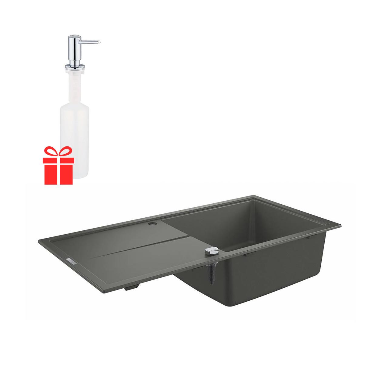 Набор Grohe мойка кухонная K400 31641AT0 + дозатор для моющего средства Contemporary 40536000